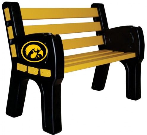 Iowa Hawkeyes Park Bench
