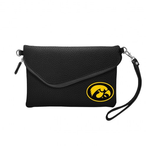 Iowa Hawkeyes Pebble Fold Over Purse