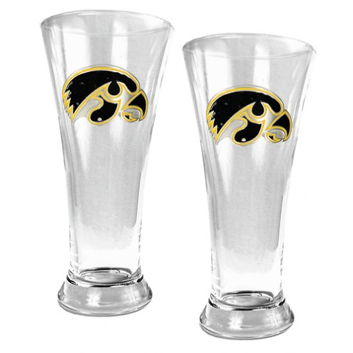 Iowa Hawkeyes College 2-Piece Pilsner Glass Set