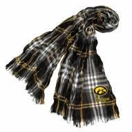 Iowa Hawkeyes Plaid Crinkle Scarf