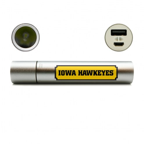 Iowa Hawkeyes Portable Power Charger with Flashlight