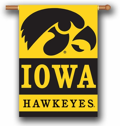 "Iowa Hawkeyes Premium 28"" x 40"" Two-Sided Banner"