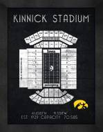 Iowa Hawkeyes Retro Stadium Chart Framed Print