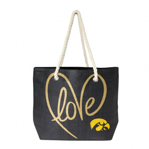 Iowa Hawkeyes Rope Tote