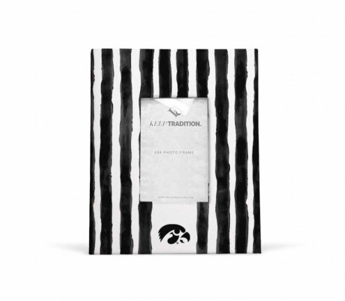 Iowa Hawkeyes School Stripes Picture Frame