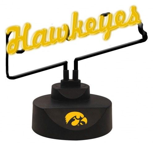 Iowa Hawkeyes Script Neon Desk Lamp