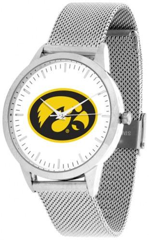 Iowa Hawkeyes Silver Mesh Statement Watch