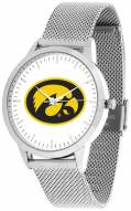 Iowa Hawkeyes Silver Mesh Statement Watch