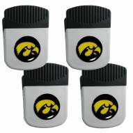 Iowa Hawkeyes 4 Pack Chip Clip Magnet with Bottle Opener