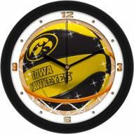 Iowa Hawkeyes Slam Dunk Wall Clock