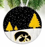 Iowa Hawkeyes Snow Scene Ornament
