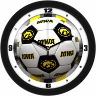 Iowa Hawkeyes Soccer Wall Clock