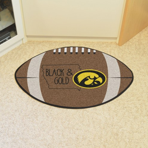Iowa Hawkeyes Southern Style Football Floor Mat