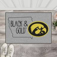 Iowa Hawkeyes Southern Style Starter Rug