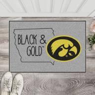 Iowa Hawkeyes Southern Style Starter Rug