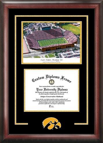 Iowa Hawkeyes Spirit Diploma Frame with Stadium Image