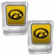 Iowa Hawkeyes Square Glass Shot Glass Set