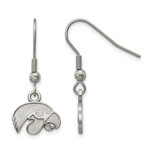 Iowa Hawkeyes Stainless Steel Dangle Earrings
