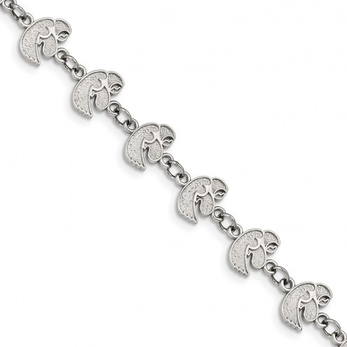 Iowa Hawkeyes Stainless Steel Logo Bracelet