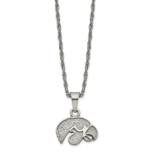 Iowa Hawkeyes Stainless Steel Pendant Necklace