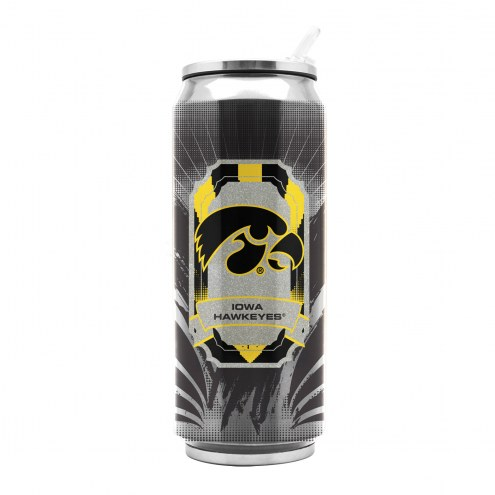 Iowa Hawkeyes Stainless Steel Thermo Can