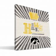 Iowa Hawkeyes State Canvas Print