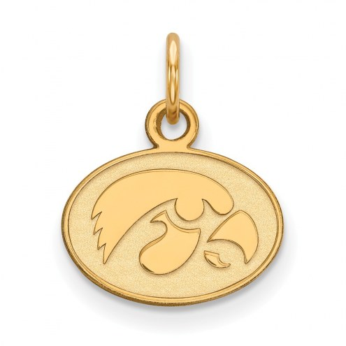Iowa Hawkeyes Sterling Silver Gold Plated Extra Small Pendant