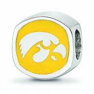 Iowa Hawkeyes Sterling Silver Logo Bead