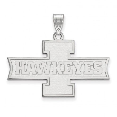 Iowa Hawkeyes Sterling Silver Medium Pendant