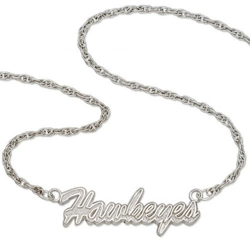 Iowa Hawkeyes Sterling Silver Script Necklace