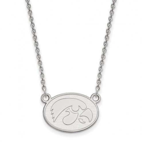 Iowa Hawkeyes Sterling Silver Small Pendant Necklace