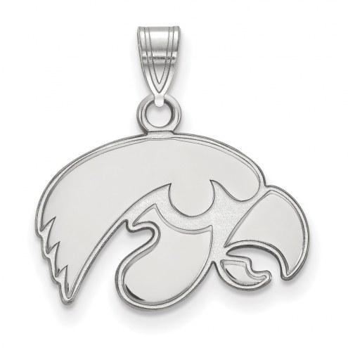 Iowa Hawkeyes Sterling Silver Small Pendant