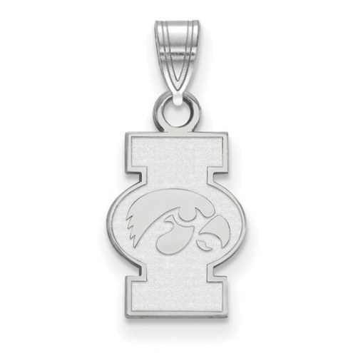 Iowa Hawkeyes Sterling Silver Small Pendant
