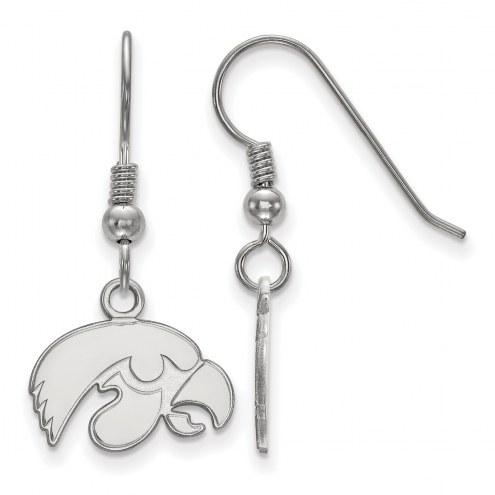 Iowa Hawkeyes Sterling Silver Extra Small Dangle Earrings