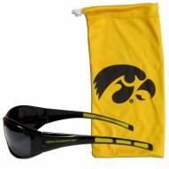 Iowa Hawkeyes Sunglasses and Bag Set