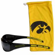 Iowa Hawkeyes Sunglasses and Bag Set