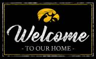 Iowa Hawkeyes Team Color Welcome Sign