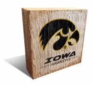 Iowa Hawkeyes Team Logo Block