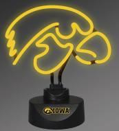 Iowa Hawkeyes Team Logo Neon Lamp