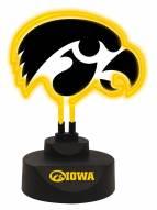 Iowa Hawkeyes Team Logo Neon Light