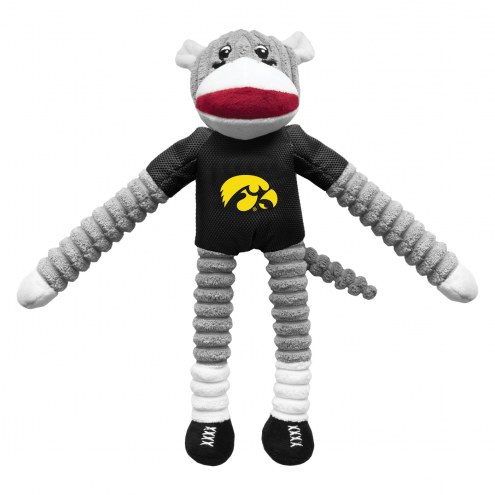 Iowa Hawkeyes Team Sock Monkey Pet Toy