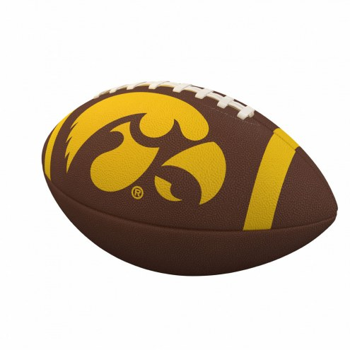 Iowa Hawkeyes Team Stripe Official Size Composite Football