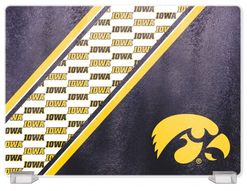 Iowa Hawkeyes Tempered Glass Cutting Board