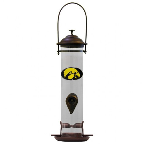 Iowa Hawkeyes Thistle Bird Feeder