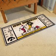 Iowa Hawkeyes Ticket Runner Rug