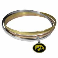 Iowa Hawkeyes Tri-color Bangle Bracelet