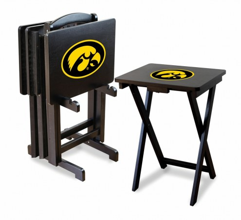 Iowa Hawkeyes TV Trays - Set of 4