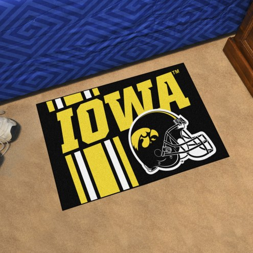 Iowa Hawkeyes Uniform Inspired Starter Rug