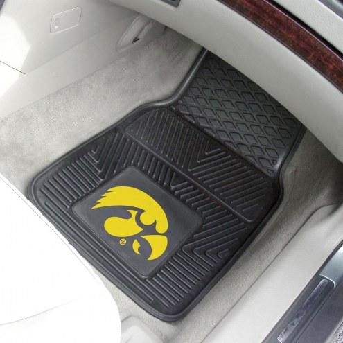 Iowa Hawkeyes Vinyl 2-Piece Car Floor Mats