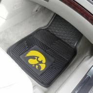 Iowa Hawkeyes Vinyl 2-Piece Car Floor Mats